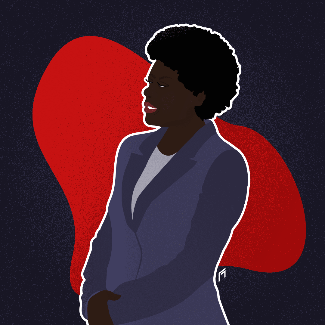 Illustration vectorielle d'Annalise Keating de la série How to get away with murder