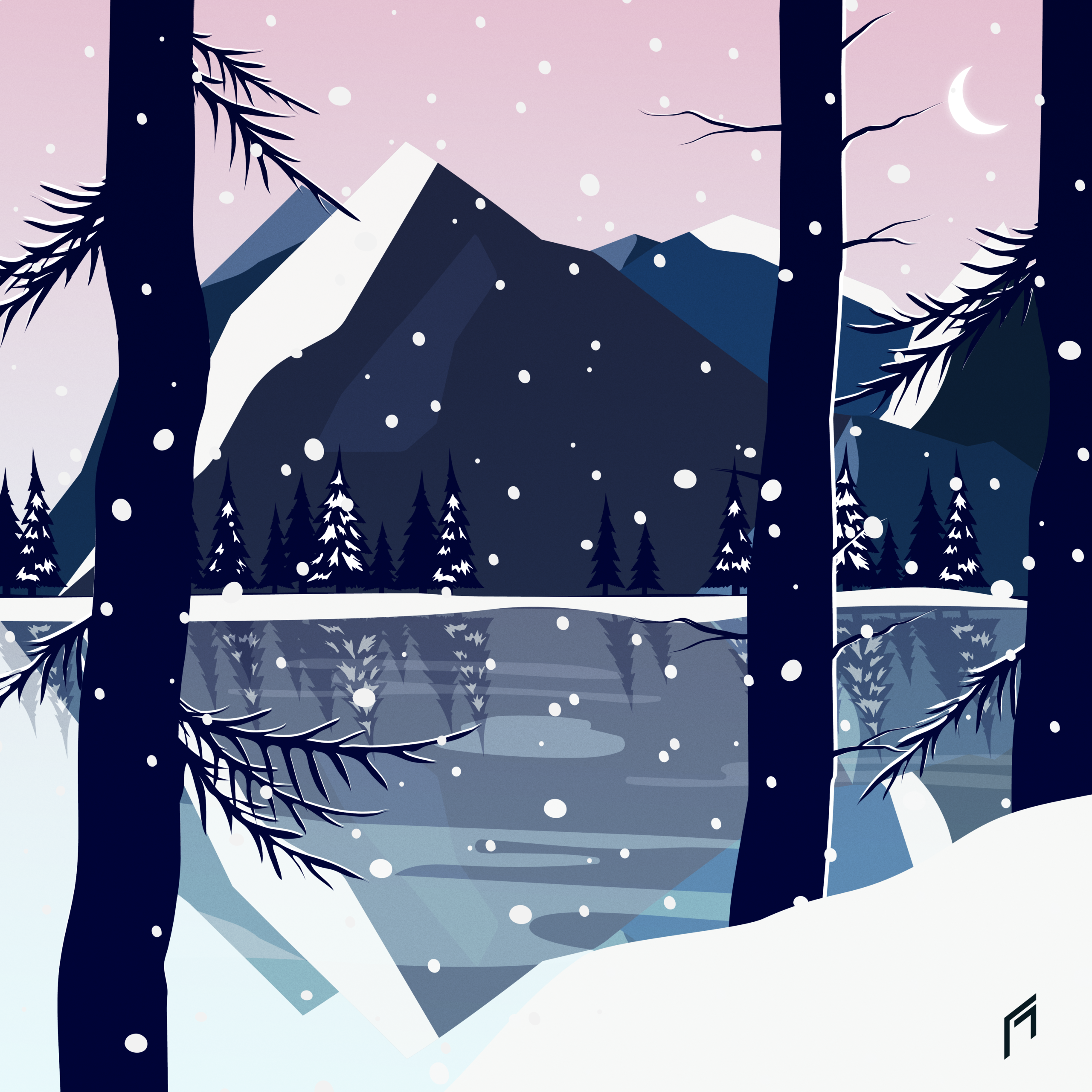 Illustration, graphisme paysage Florine Michalak Freelance communication