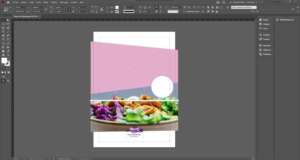 Dessiner des formes sur Adobe Indesign