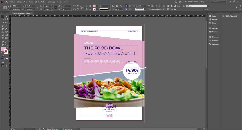 zoom tutoriel ajouter des pictogrammes indesign