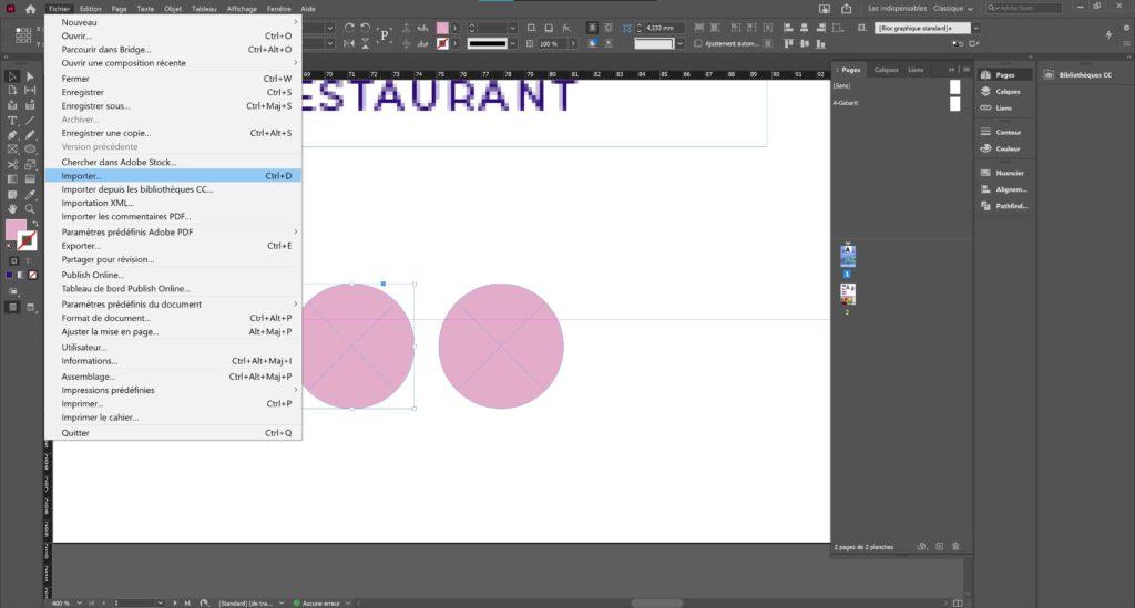 Intégrer pictogrammes tutoriel indesign